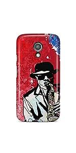 Casenation Saxophone Player Motorola Moto G2 Matte Case