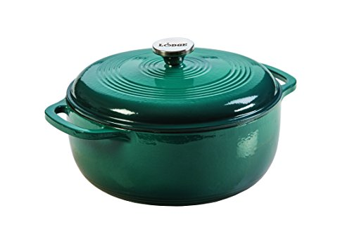 Lodge EC6D38 Enameled Cast Iron Dutch Oven, 6-Quart, Lagoon (Lodge Cast Iron Green compare prices)