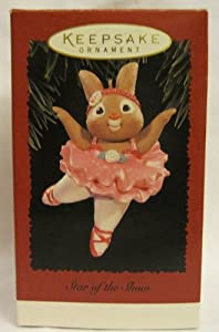 Hallmark Keepsake Star of the Show Ballerina Bunny 1996 Christmas Ornament