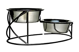 Elevated Dog Bowl - Bilevel Watering Bowl - 7\
