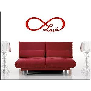 EsseBi ADESIVO LOVE STICKERS AMORE INFINITO STICKER LOVE TATTOO ADESIVI MURALI AMORE ARREDI MURALI PER LA CASA   cliente recensione Voto