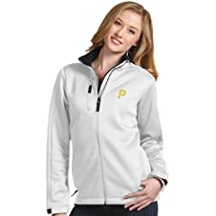 Pittsburgh Pirates Ladies Traverse Jacket (White) by Antigua