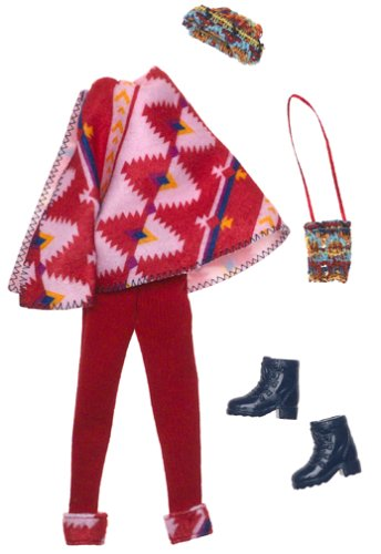 Barbie Fashion Avenue: Coat Collection. Red Poncho - 1