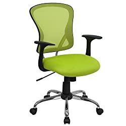 Flash Furniture Mid-Back Green Mesh Office Chair