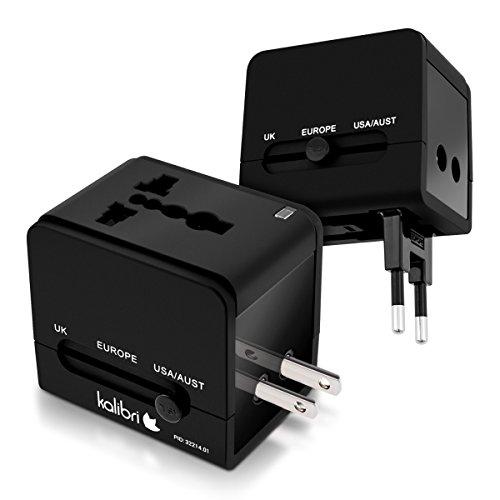 kalibri-Universal-Reiseadapter-universelle-AC-Versorgung-international-in-ber-150-Lndern-mit-integriertem-21A-USB-Ladegert-in-Schwarz