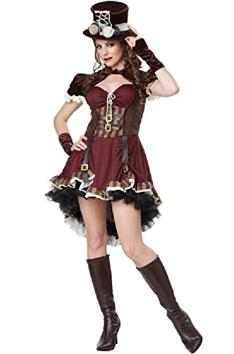 8eighteen Wild West Victorian Steampunk Girl Burlesque Adult Costume (Wild Zebra Adult Womens Costume)