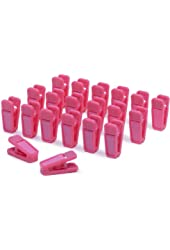 Slim-Line Set of (20) Finger Clips (Hot Pink)