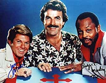 MAGNUM P.I. (Roger E. Mosely & Larry Manetti) 8x10 Cast Photo Signed In-Person