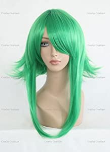 CosplayerWorld Cosplay Wigs VOCALOID Gumi Wig For Convention Party Show Green Color55cm 170g WIG-083A