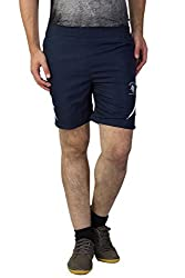 Greenwich United Polo Club Men's Polyester Shorts (GUPC21_Blue_Large)