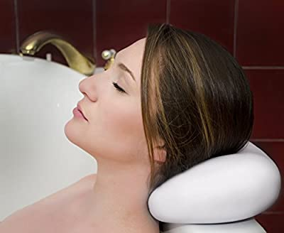 LUXURY Bath Pillow With Suction Cups ? Washable And Waterproof Pillows For Spa ? Jacuzzi ? Bathtub ? Firm Headrest For Neck ? Great Gifts For Mothers And Women