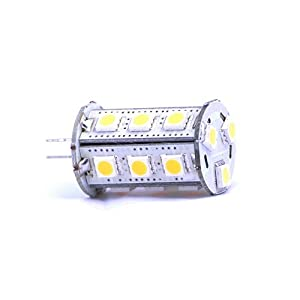 LEDwholesalers Tower Type G4 18 SMD LED 5050 12V Ac/dc Warm White, 1435WW