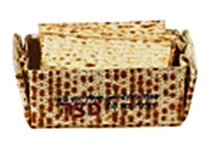 Passover Matzo Holder for Pesach Matzah Basket - Seder Serving & Matzoh Afterwards Folding