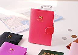 TONGXIN Travel Journey Passport ID Card Holder Case Cover Purse and Passport case (Red)