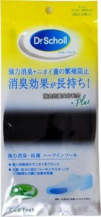 ドクター・ショール 強力消臭・抗菌ハーフインソール 男女兼用フリーサイズ 1足分(2枚入)