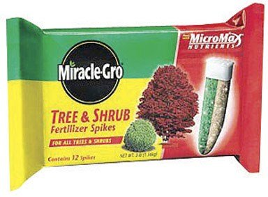 Miracle-Gro 100386 Tree and Shrub Fertilizer Spikes, 12-Pack (Discontinued by Manufacturer)
