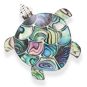 Paua Shell Turtle Pin/Pendant