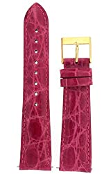 Watch band Genuine Crocodile Strap 18mm Fuchsia