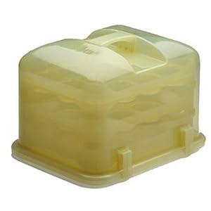 Cupcake Courier 36-Cupcake Plastic Storage Container, Lemongrass