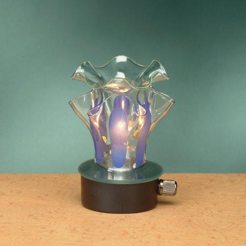 Decorative Blue Blown Glass Electric Oil Aromatherapy Burner