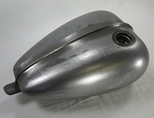 Ribbed Mustang Chopper Bobber Custom Build Gas Tank - Steel - 3.3 Gallon Capacity - Motorcycle Cafe Racer Fuel Cell Petrol (Cafe Tank compare prices)