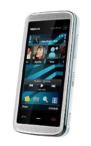 Nokia 5530 XpressMusic Smartphone (WLAN, 3,2 MP, kostenlose Musik) white blue