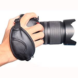 CE Compass Leather Hand Strap Grip for Canon Nikon Sony Olympus DSLR Camcorder DV