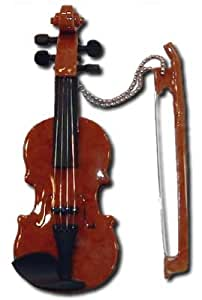 Miniature Musical Violin Keychain 4""