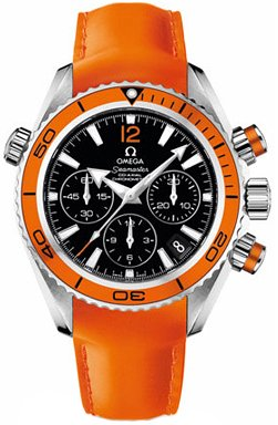 Omega Seamaster Black Dial Orange Leather Unisex Watch 22232385001003