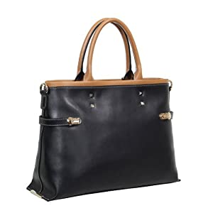 Fineplus Women's Qualited Studded Trendy Leather Handbag Shoulder Bag