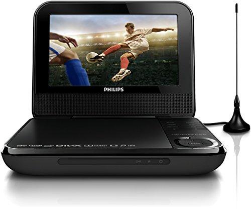Philips PD7025 Lettore DVD Portatile, Nero