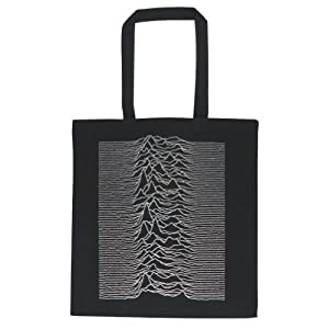 Joy Division - Womens Joy Division - Unknown Pleasures Tote Bag Black