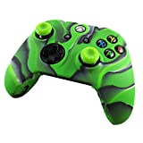 Pandaren® silicone skin for XBOX ONE controller (camouflage green) x 1 + thumb grip x 2