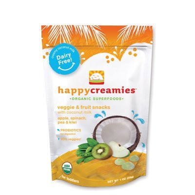 Organic Creamies Apple, Spinach, Pea & Kiwi 1 oz (28 grams) Pkg