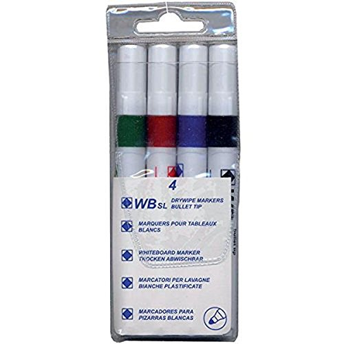 4-whiteboard-drywipe-marker-pens-bullet-tip-non-toxic-ink-assorted-pack-of-4