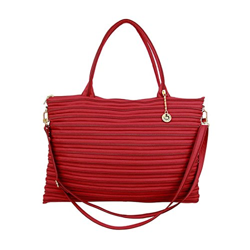 Borsa shopping a tracolla GhostZip in cerniera lampo - Mod City - CITY-ROSSO