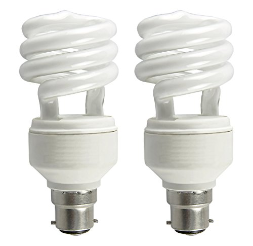 Spiral 18 Watt CFL Bulb (Cool Day Light,Pack of 2)