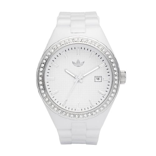 Adidas Originals Unisex White Analogue Watch - ADH2123 With Stone Encrusted Bezel Cambridge