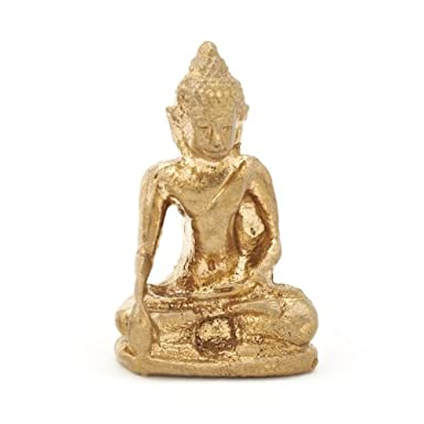 Brass Sitting Buddha Figurine