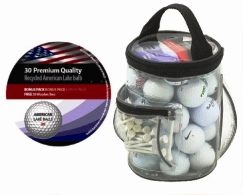 Longridge Golfbälle Lakeballs Grade A in Golftasche, 30 Stück, weiß