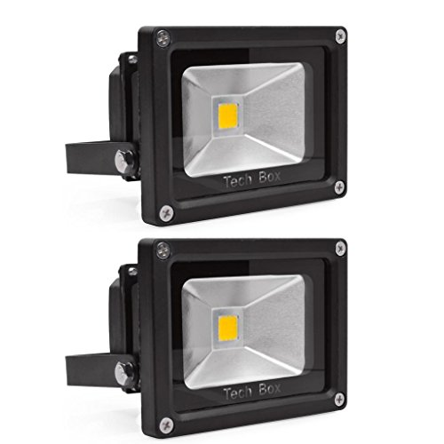 2 Pcs 10W Led Flood Light Outdoor Lamp 85-265V Warm White Ip65 Waterproof
