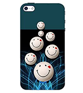 PrintDhaba SMILEY BALLS D-6566 Back Case Cover for APPLE IPHONE 5S (Multi-Coloured)