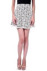 Sassafras Women's Skirt (SFSKRT3003S_Off-White_Small)