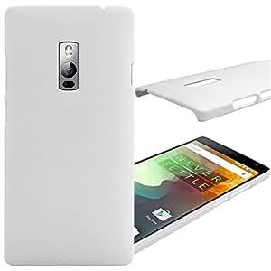 DMG Full Matte Slim-Fit Hard Back Cover Case for OnePlus Two (White)