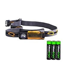 Fenix HL10 70 Lumen LED removable light Headlamp with Three EdisonBright AAA Alkaline batteries