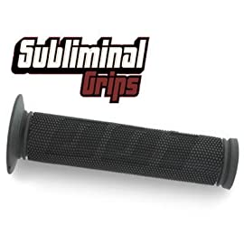 Odi Subliminal BMX Bicycle Handle Bar Grips - Pair - Black - FO1SUB
