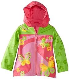 Stephen Joseph Little Girls\'  Peace Rain Coat, Butterfly, 6X