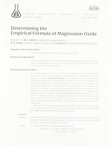 determination of the valency of magnesium Magnesium hydroxide is an inorganic compound with the chemical formula mg(oh)2 it is naturally found as the mineral brucite magnesium hydroxide can be used an antacid or a laxative in either an oral liquid suspension or chewable tablet form.