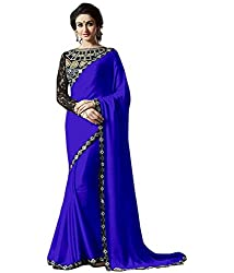 RadadiyaTRD Women's Saree (Navy_Blue=@510)