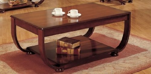 Beautiful 1-pc Coffee Table in Dark Cherry Finish PDS F60017